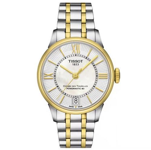 【国际品牌】天梭 TISSOT杜鲁尔机械钢带女士商务时尚潮流手表T0992072211800