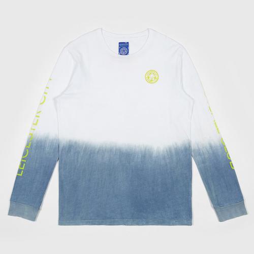 【直邮】LCFC莱斯特城制造天然泰国植物染料晕染牛仔蓝长袖休闲T恤