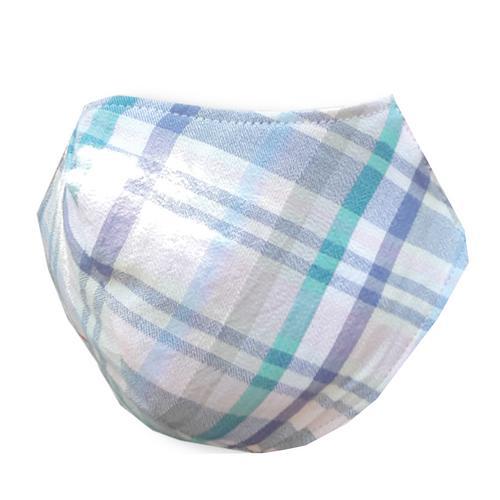 IMPANI布艺淡蓝灰格子环保可洗口罩