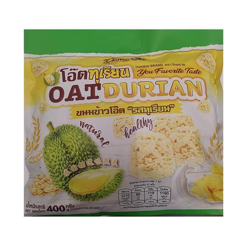 【直邮】THAIRAI榴莲燕麦酥400g