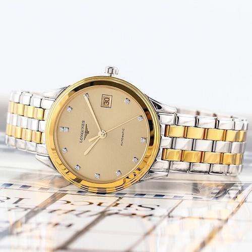 【国际品牌】Longines浪琴军旗系列手表机械机芯镀金黄盘L4.774.3.37.7