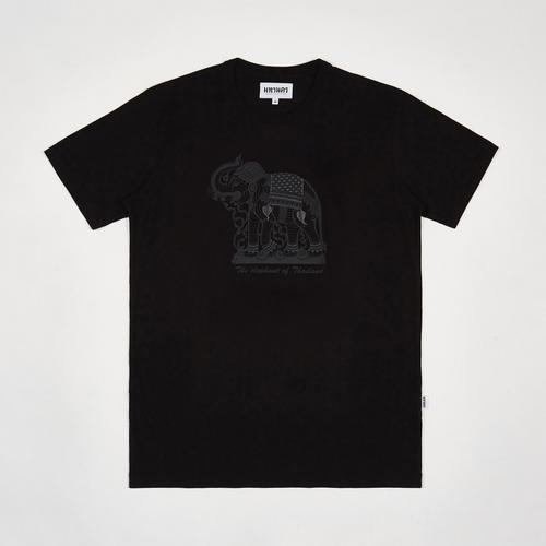 MAHANAKHON玛哈那空象鸣图案黑色短袖T恤S码