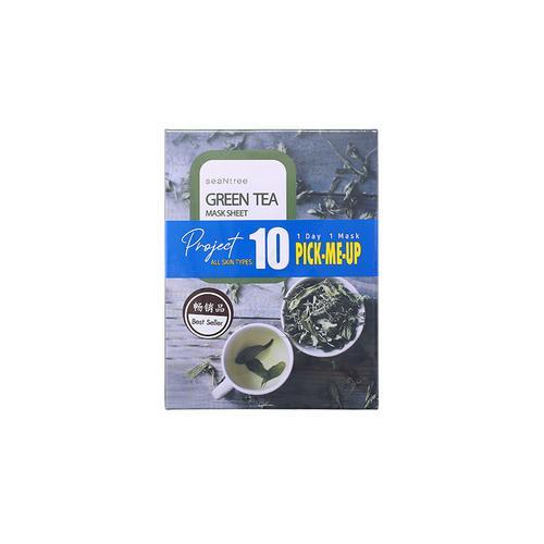 SEANTREE天然绿茶面膜十片装