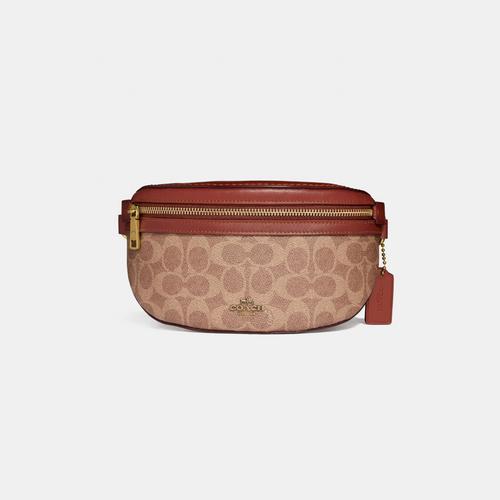 【国际品牌】蔻驰 COACH 女士小号棕色PVC腰包39937 B4NQ4