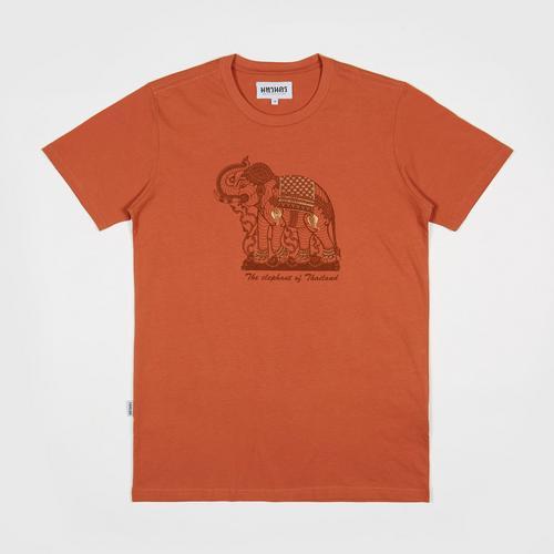 【直邮】MAHANAKHON玛哈那空象鸣图案橙色短袖T恤S码