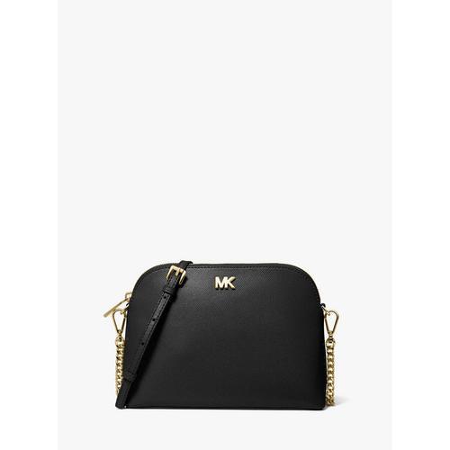 【国际品牌】迈克·科尔斯 MICHAEL KORS Large Crossgrain 贝壳皮质单肩包 -黑色 BLACK