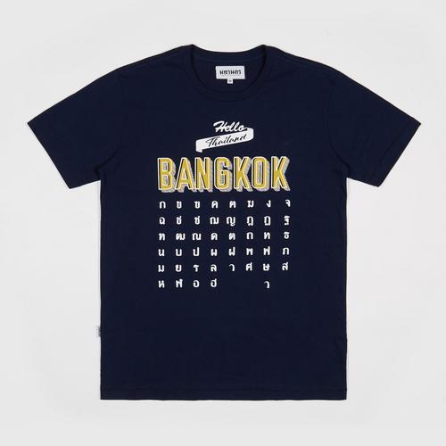 MAHANAKHON玛哈那空泰文字母短袖T恤深蓝色S码