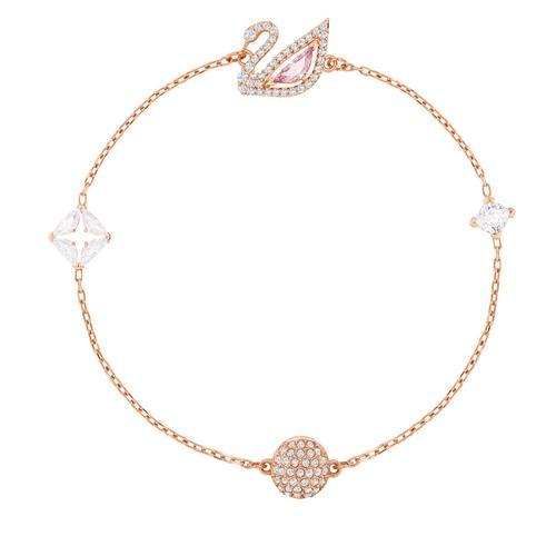【国际品牌】SWAROVSKI施华洛世奇闪耀天鹅镀玫瑰金手链17.3cm