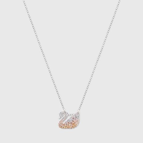 【国际品牌】SWAROVSKI施华洛世奇渐变色天鹅水晶项链38cm
