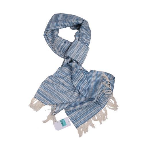 【直邮】Mann Craft蓝白混色提花围巾 OTOP