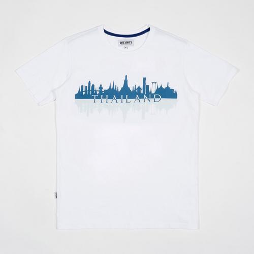 MAHANAKHON玛哈那空曼谷城市剪影短袖T恤白色S码
