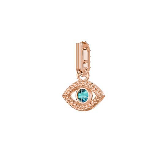 【国际品牌】SWAROVSKI施华洛世奇绿水晶眼睛镀玫瑰金吊饰(不含项链)