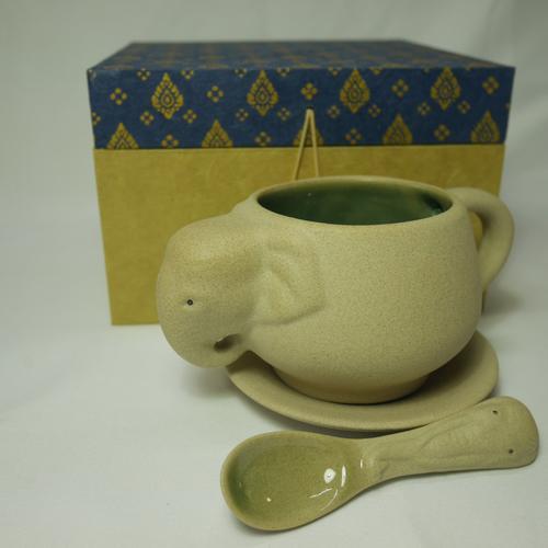 EKAWAT  INDRACHAI大象陶瓷杯具套装 OTOP