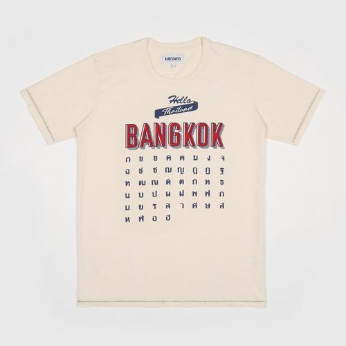 MAHANAKHON玛哈那空泰文字母短袖T恤象牙色S码