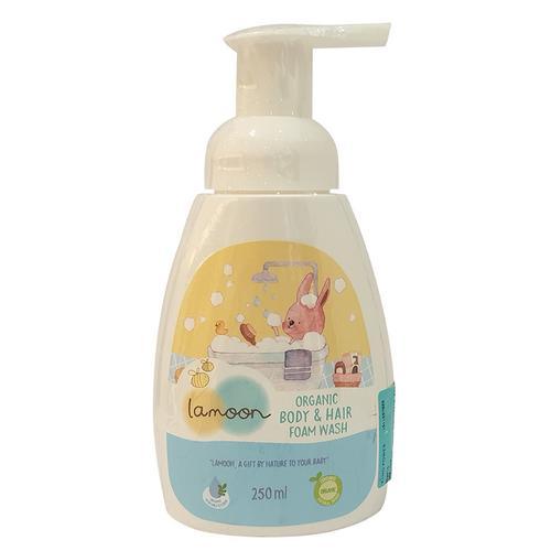 LAMOON天然有机儿童沐浴洗发泡沫250ml