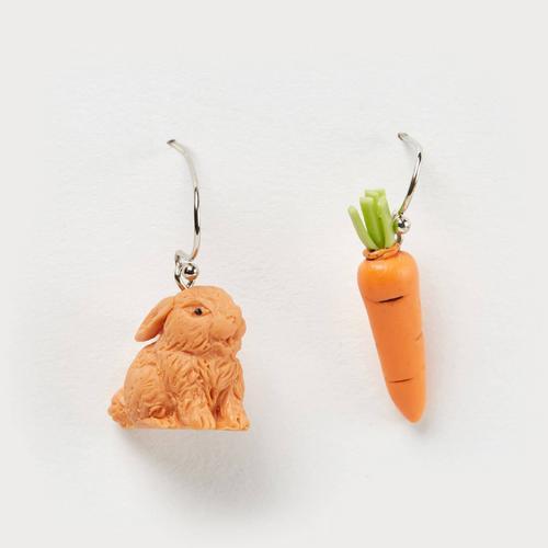 SANFAN OTOP兔子胡萝卜耳环
