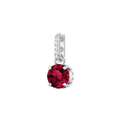 SWAROVSKI施华洛世奇魅力红水晶镀铑项链手链配饰1.5 x 0.5 cm