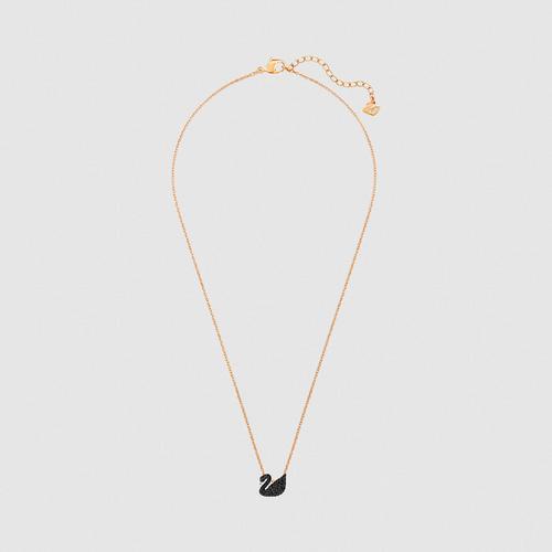 【国际品牌】SWAROVSKI施华洛世奇标志水晶小黑天鹅项链吊坠