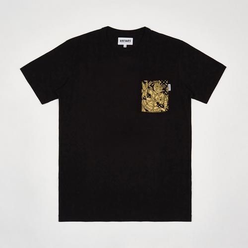 【直邮】MAHANAKHON玛哈那空十面鬼王胸口烫金口袋黑色T恤S码