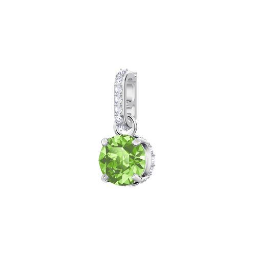 SWAROVSKI施华洛世奇魅力浅绿水晶镀铑项链手链配饰1.5 x 0.5 cm