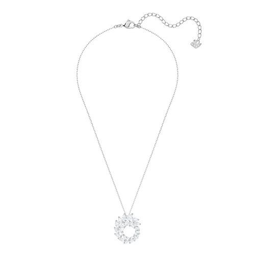【国际品牌】SWAROVSKI施华洛世奇路易森镀铑吊坠项链38/2 x 2.5 cm