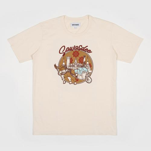 MAHANAKHON玛哈那空泰式问候你好图案短袖T恤象牙色S码