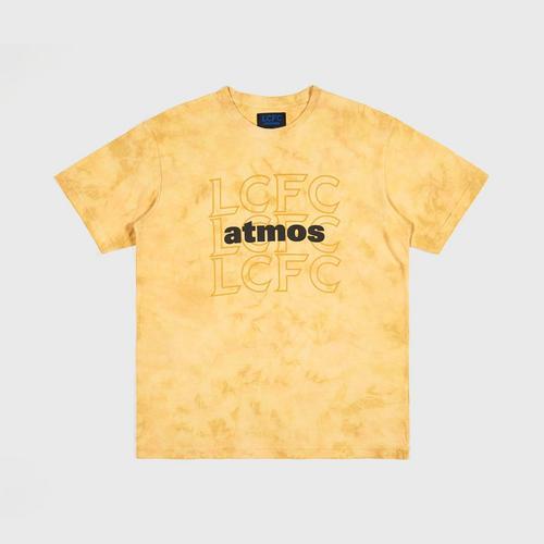 【直邮】莱斯特城潮牌联名LCFC×ATMOS黄色泰国传统扎染T恤M码