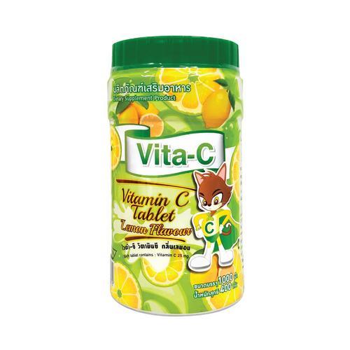 【直邮】VITA-C柠檬味维生素C咀嚼片VC片1000片
