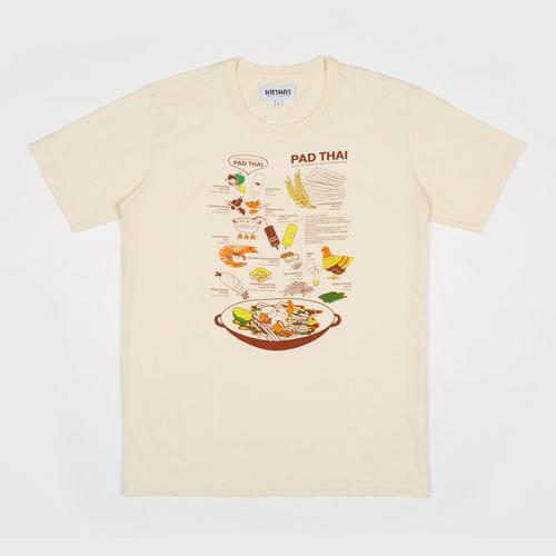 MAHANAKHON玛哈那空泰式炒面创意图案短袖T恤象牙色S码
