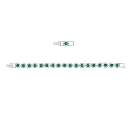 SWAROVSKI施华洛世奇天使镀铑绿水晶手环手镯 16.5 cm