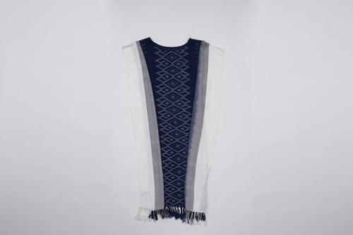THONGSIRI INDIGO BLUE白底深蓝花纹泰式传统手工裙装 OTOP