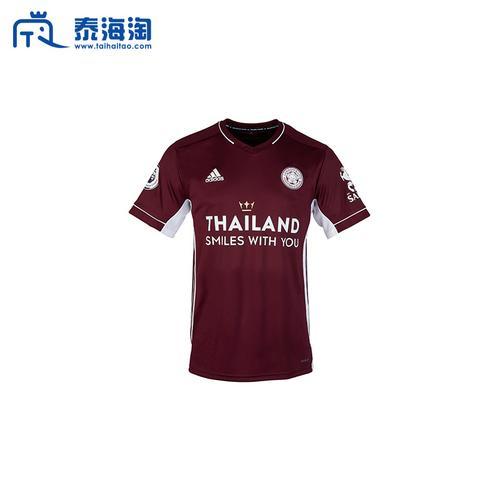 莱斯特城足球俱乐部Leicester City 2020-2021赛季客场酒红色色球衣S码