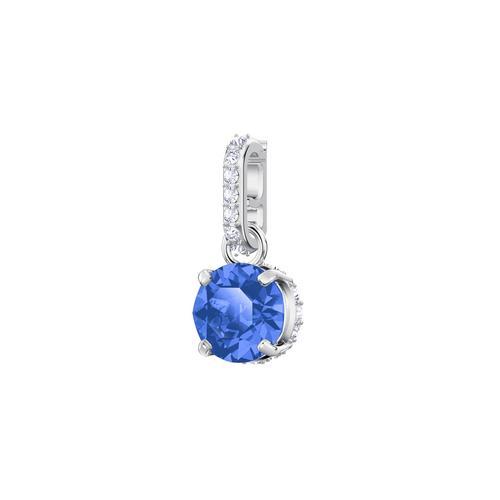 SWAROVSKI施华洛世奇魅力深蓝水晶镀铑项链手链配饰1.5 x 0.5 cm