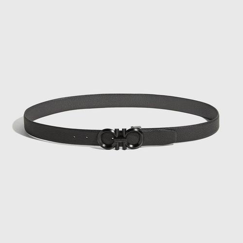 【国际品牌】SALVATORE FERRAGAMO菲拉格慕黑色皮带头男士皮带105cm