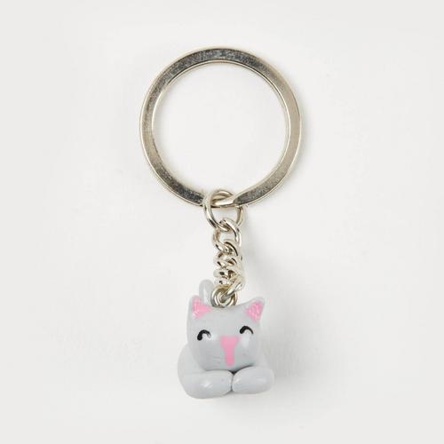 SANFAN OTOP灰猫手工钥匙扣