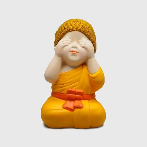 AROMDIN小沙弥佛语不看造型创意摆件 OTOP