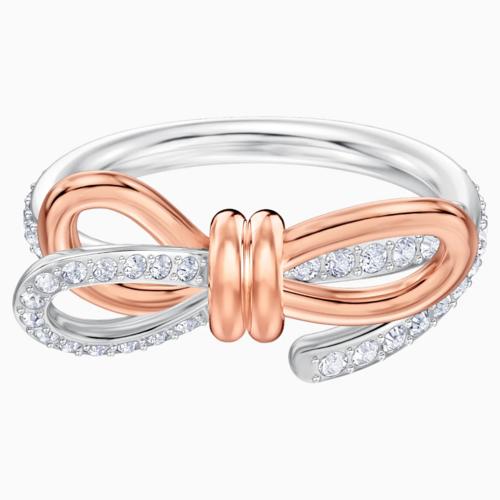 【国际品牌】SWAROVSKI施华洛世奇生命之结白色镀铑戒指50号
