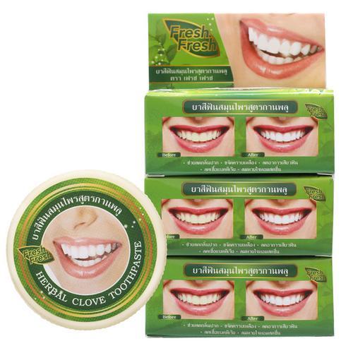【直邮】fresh fresh牙膏牙粉洁白除烟茶渍清洁抗菌去口气25g*3