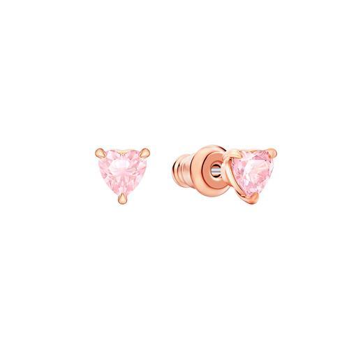 【国际品牌】SWAROVSKI施华洛世奇粉水晶镀玫瑰金项链耳环套装38/0.5cm