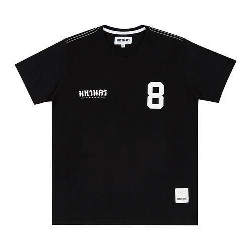 MAHANAKHON玛哈那空黑色泰文8号印花短袖T恤S码