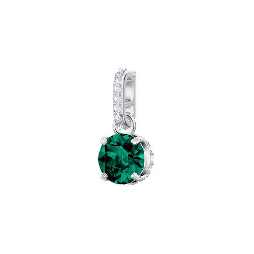 SWAROVSKI施华洛世奇魅力绿水晶镀铑项链手链配饰1.5 x 0.5 cm