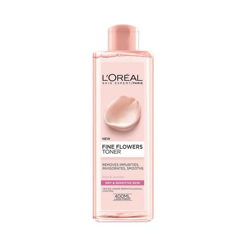 巴黎欧莱雅 L'ORÉAL 玫瑰茉莉花爽肤水粉水(干性及敏感性肌肤) 400ml