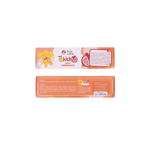 【直邮】TWIN LOTUS双莲优乳益齿儿童牙膏香橙&石榴50g