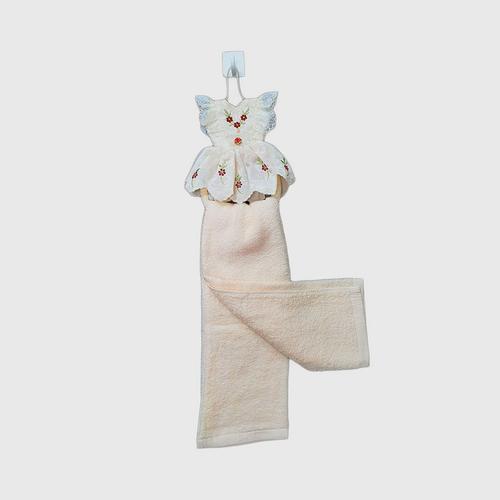 【直邮】COTTON FANTASY裙装厨房手巾桃色带挂环