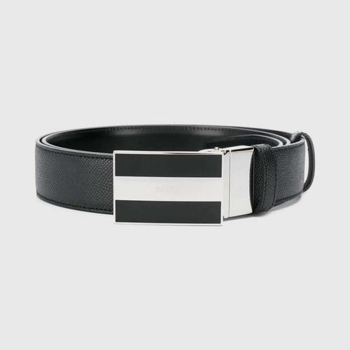 【国际品牌】BALLY巴利男士条纹扣男士皮带110cm